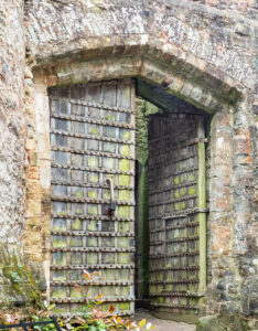 Castle Gates - believed to be 13th century with ironwork added 1417