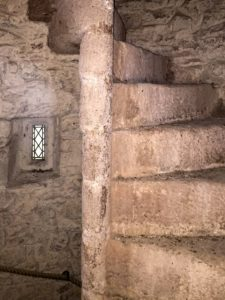 Stone Spiral Staircase and Small Window