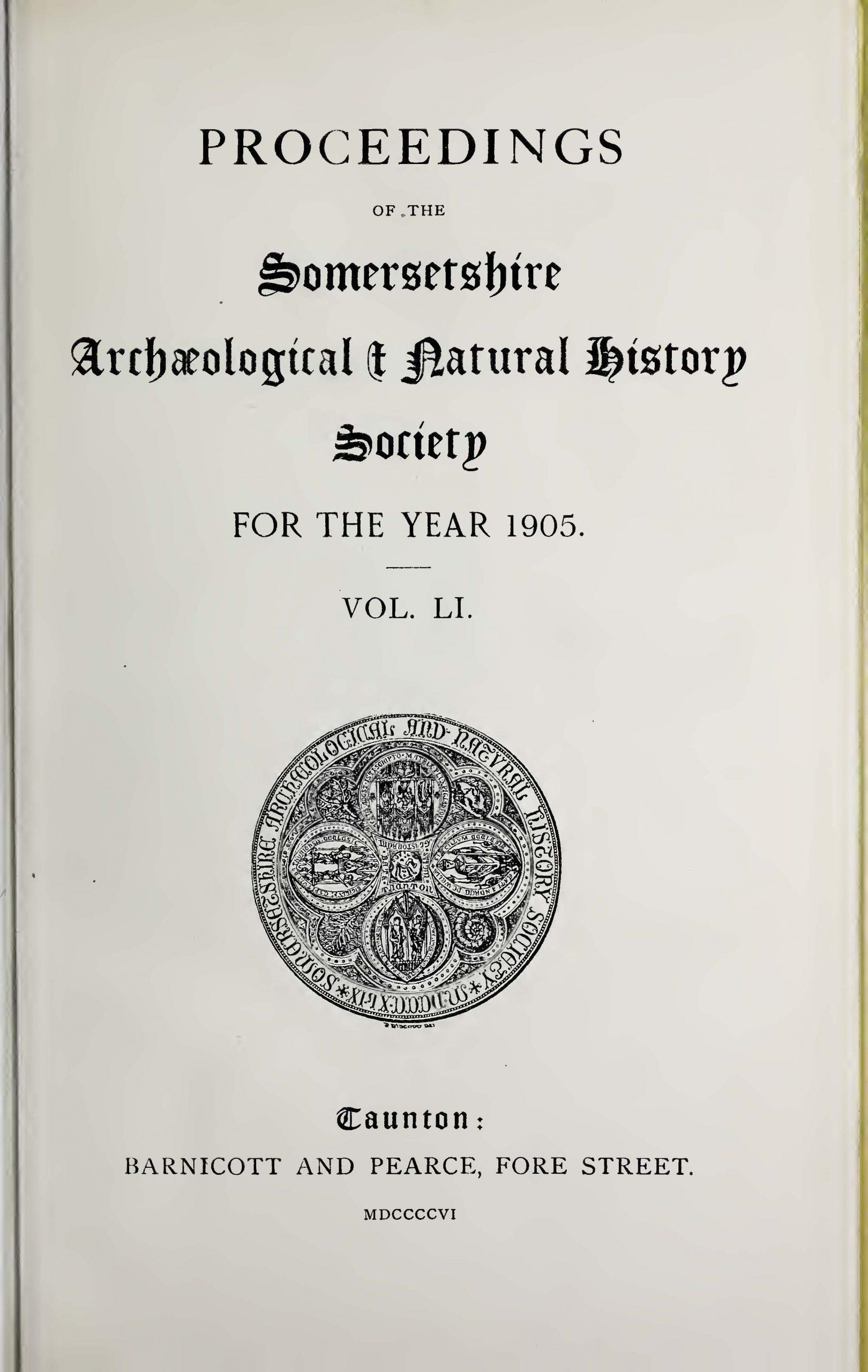 SANHS Proceedings Volume 51 cover