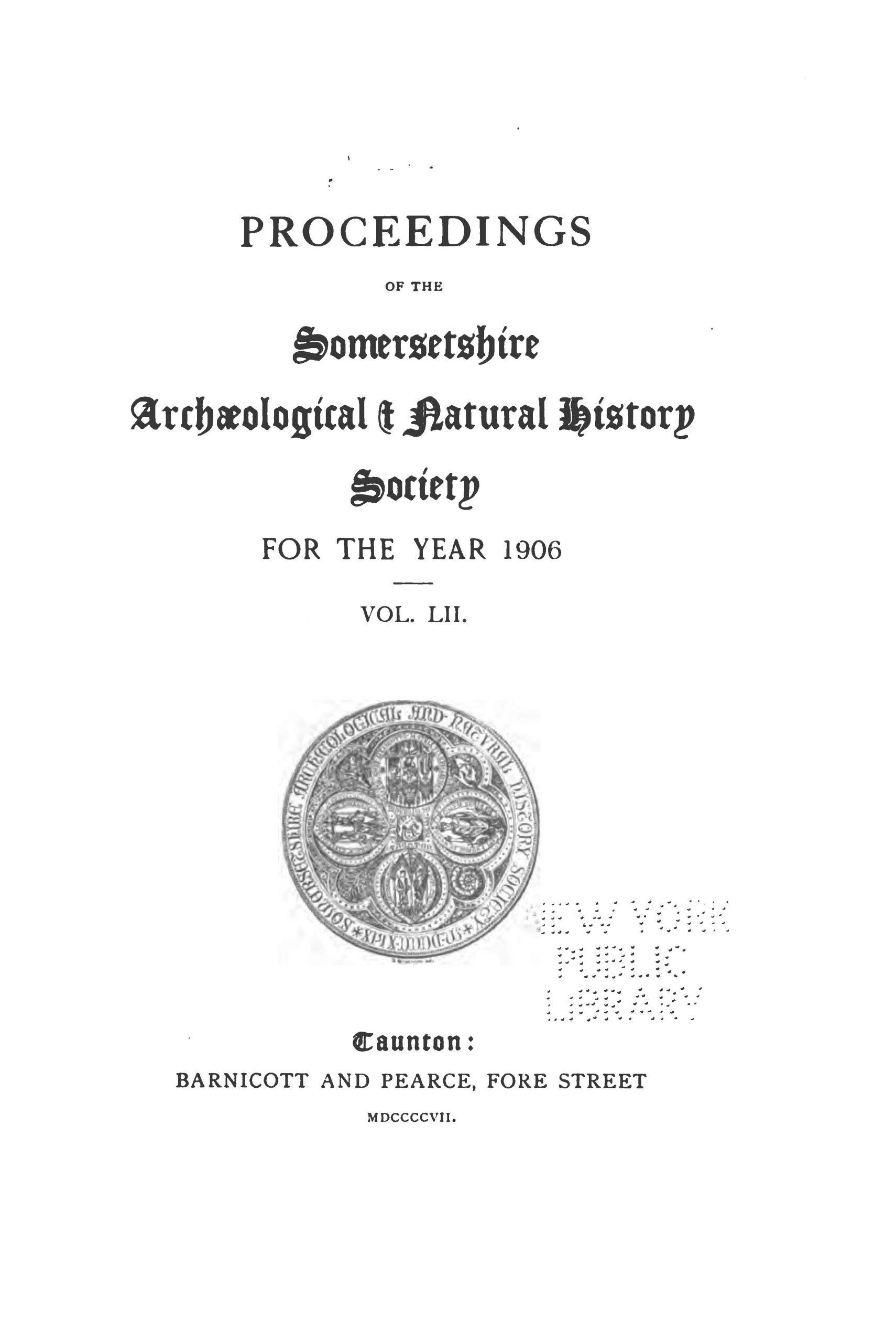 SANHS Proceedings Volume 52 cover