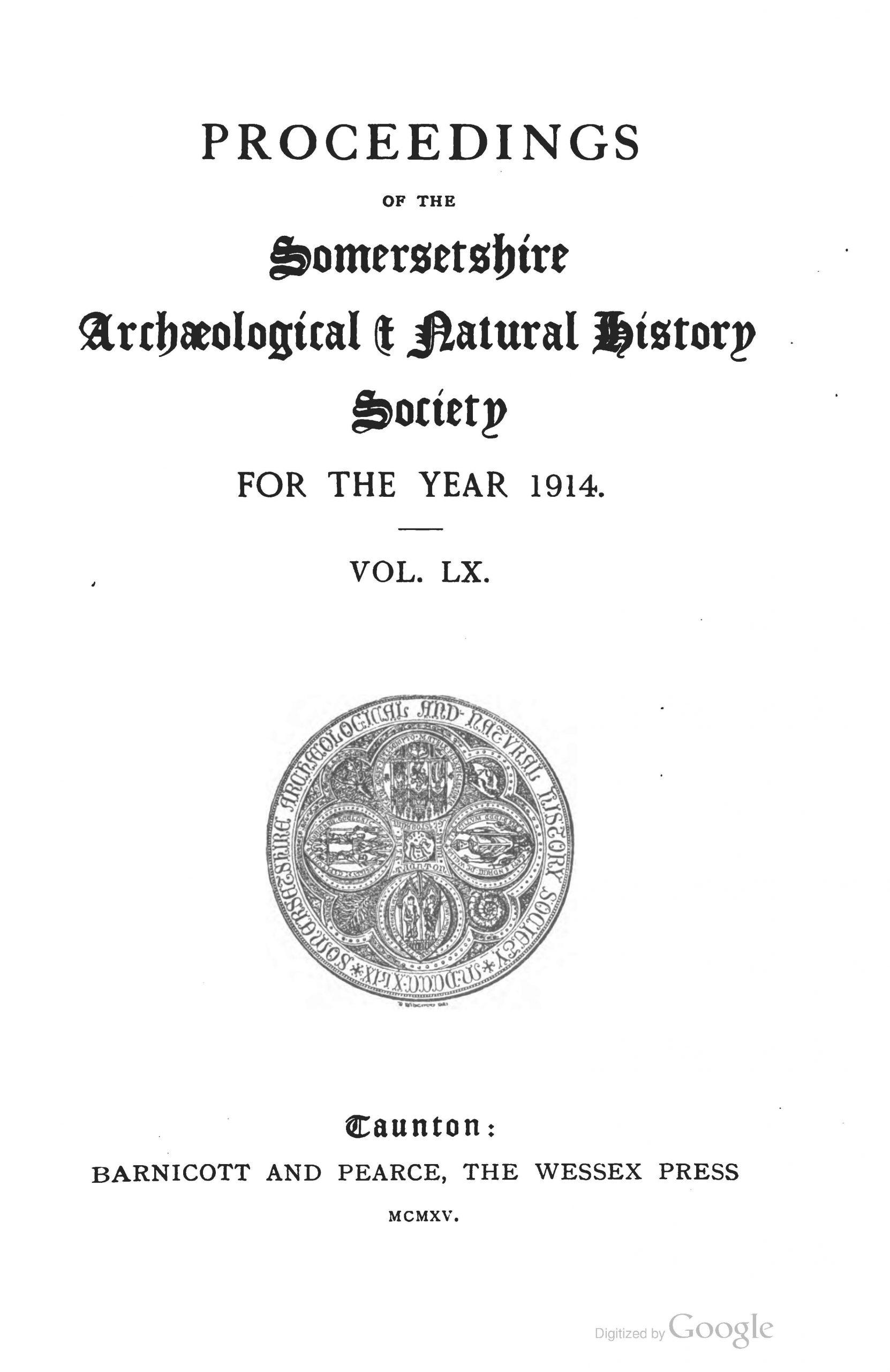 SANHS Proceedings Volume 60 cover