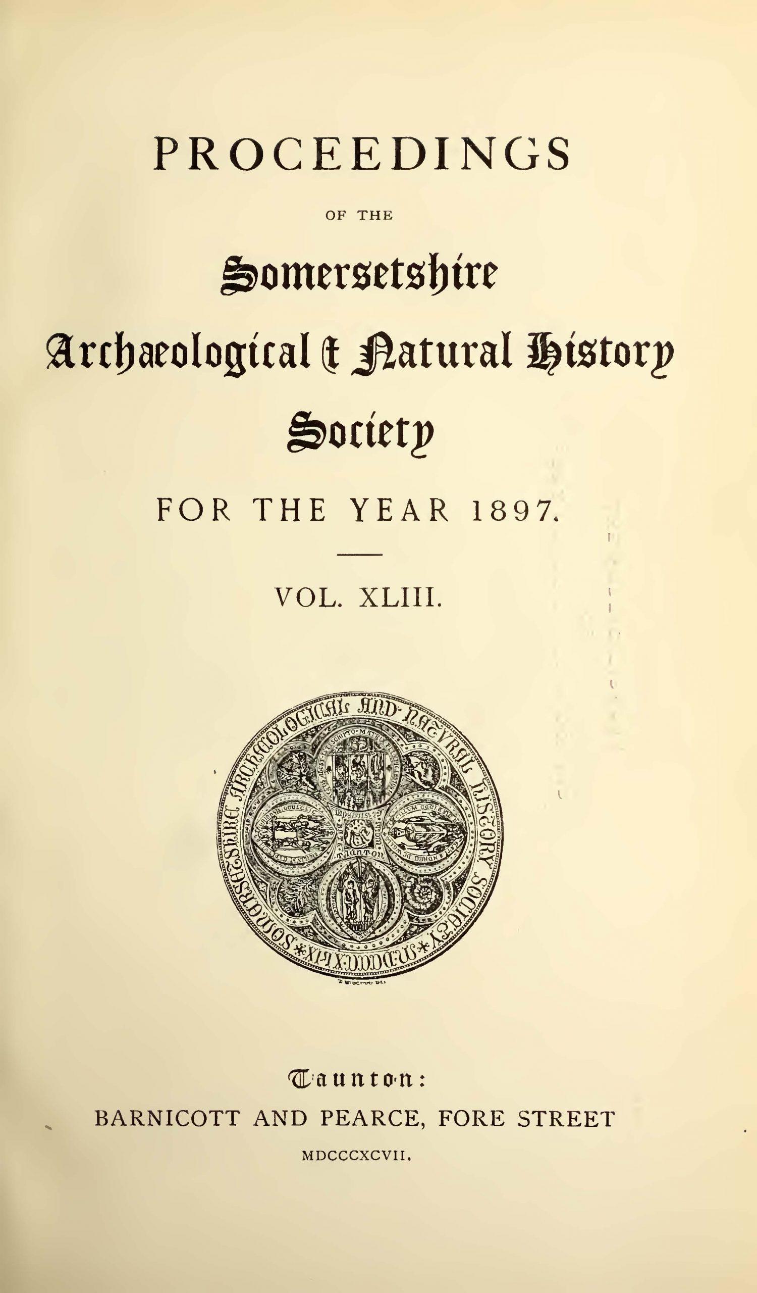 SANHS Proceedings Volume 43 cover
