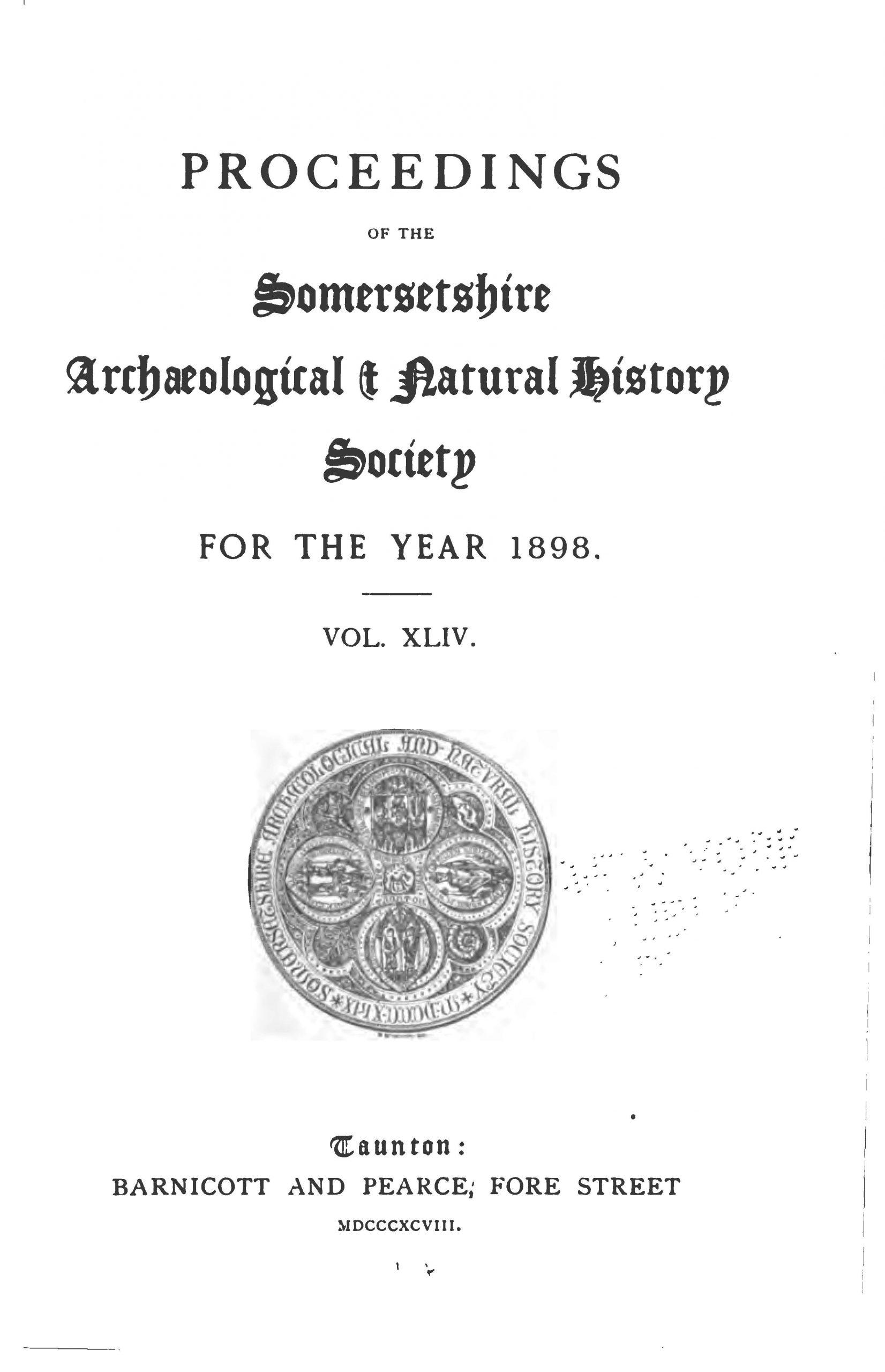 SANHS Proceedings Volume 44 cover