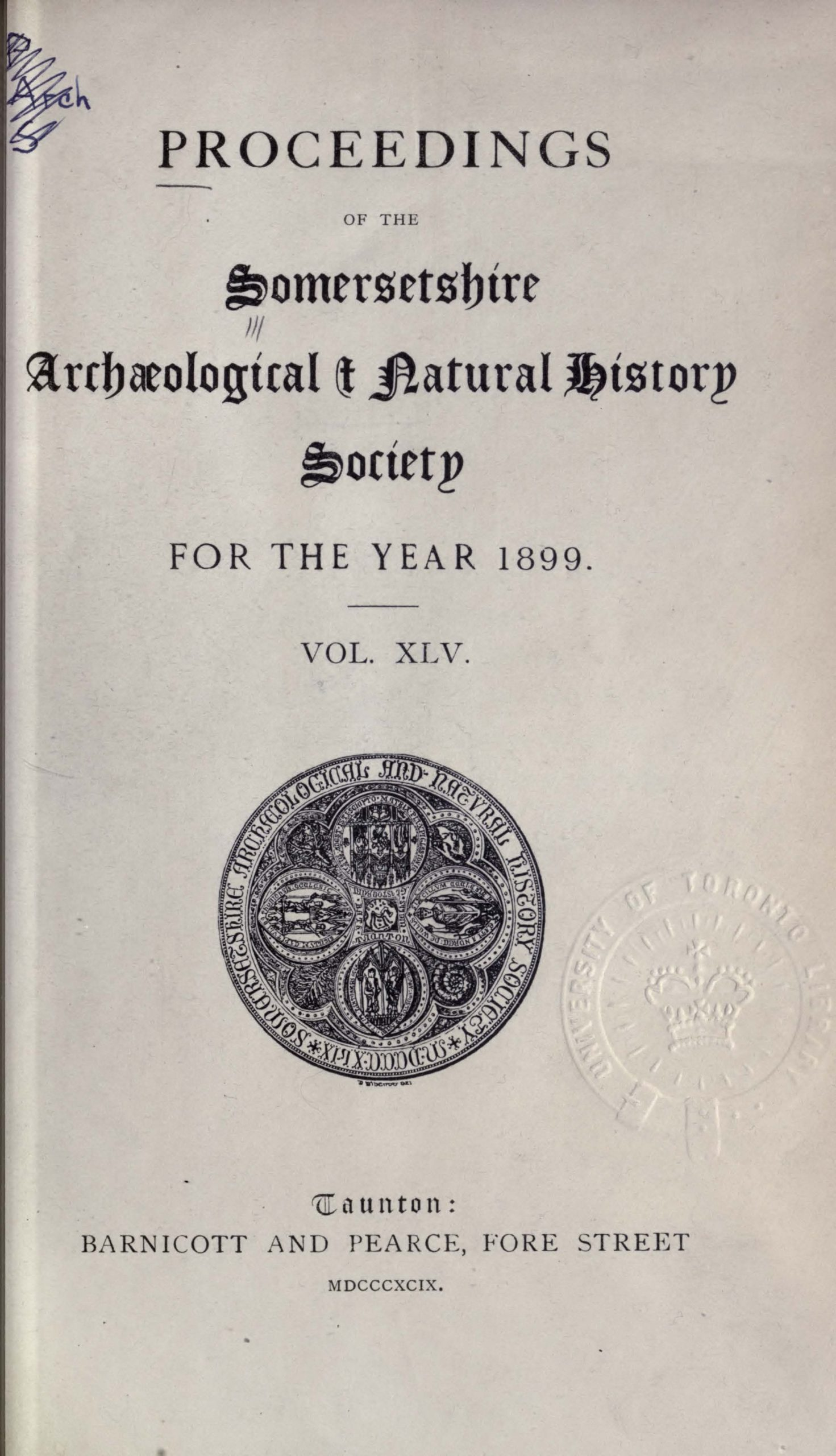 SANHS Proceedings Volume 45 cover