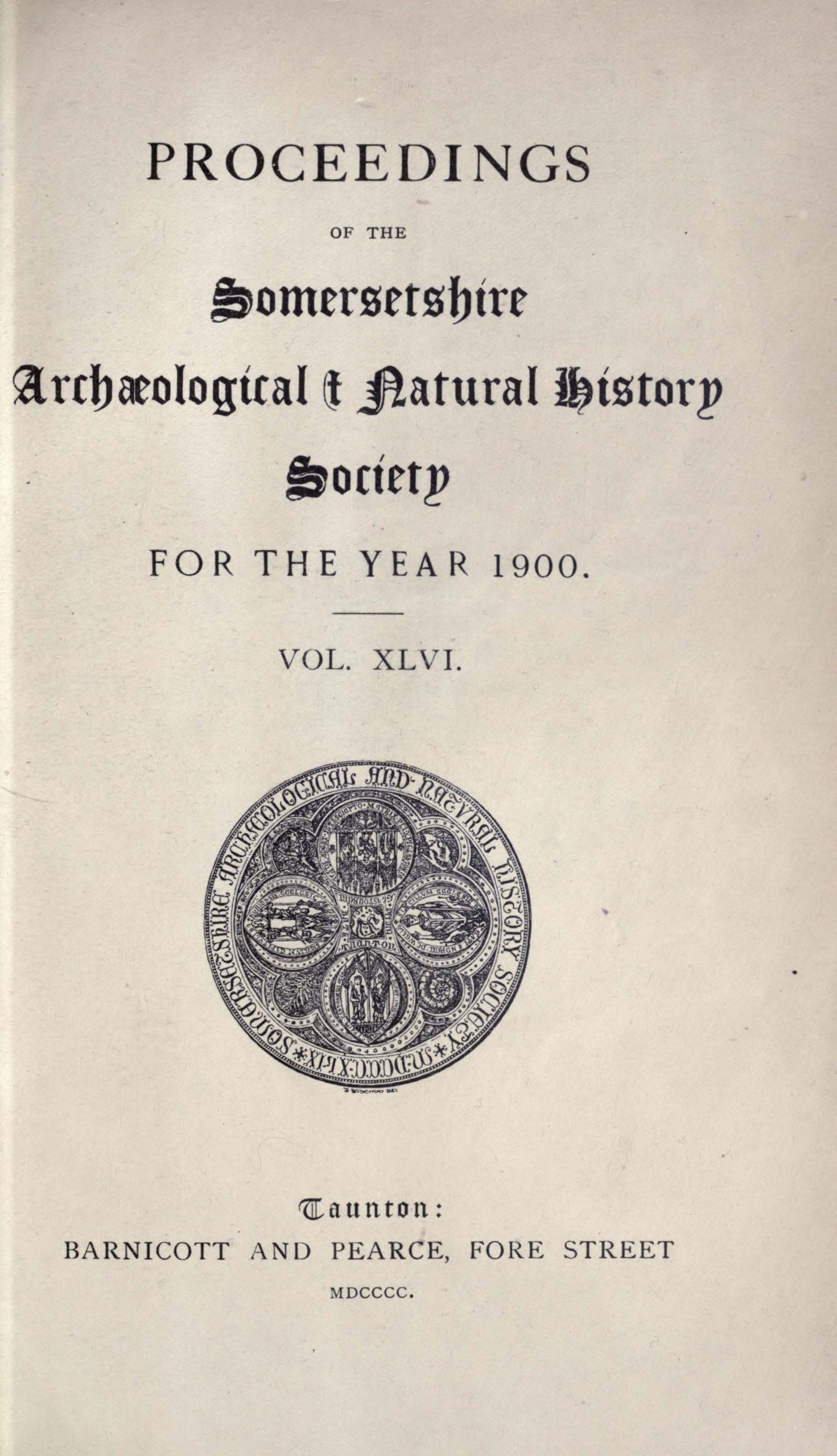 SANHS Proceedings Volume 46 cover