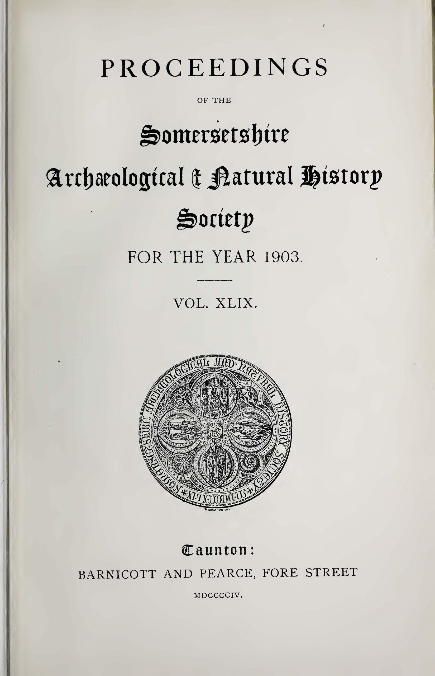 SANHS Proceedings Volume 49 cover