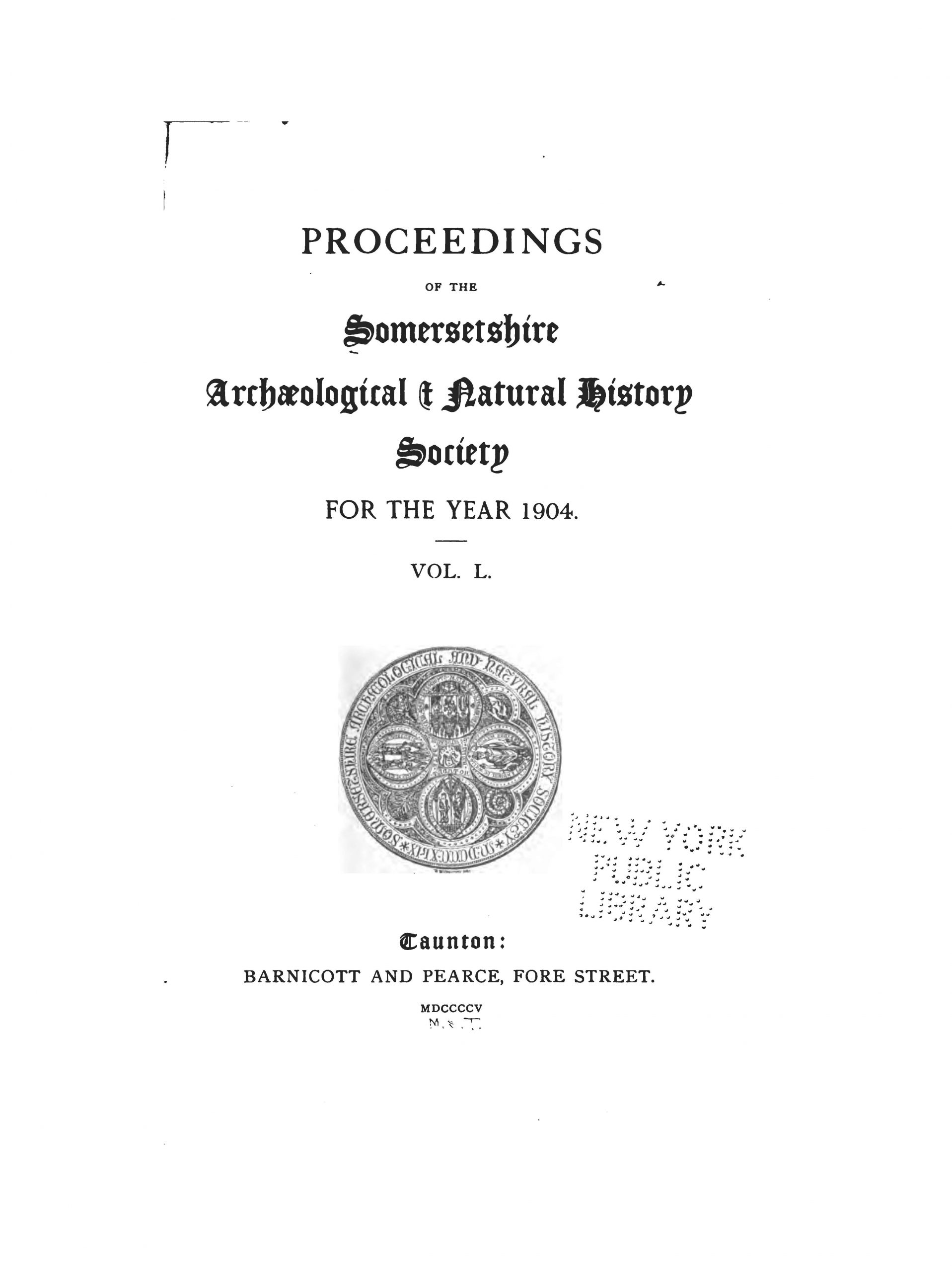 SANHS Proceedings Volume 50 cover