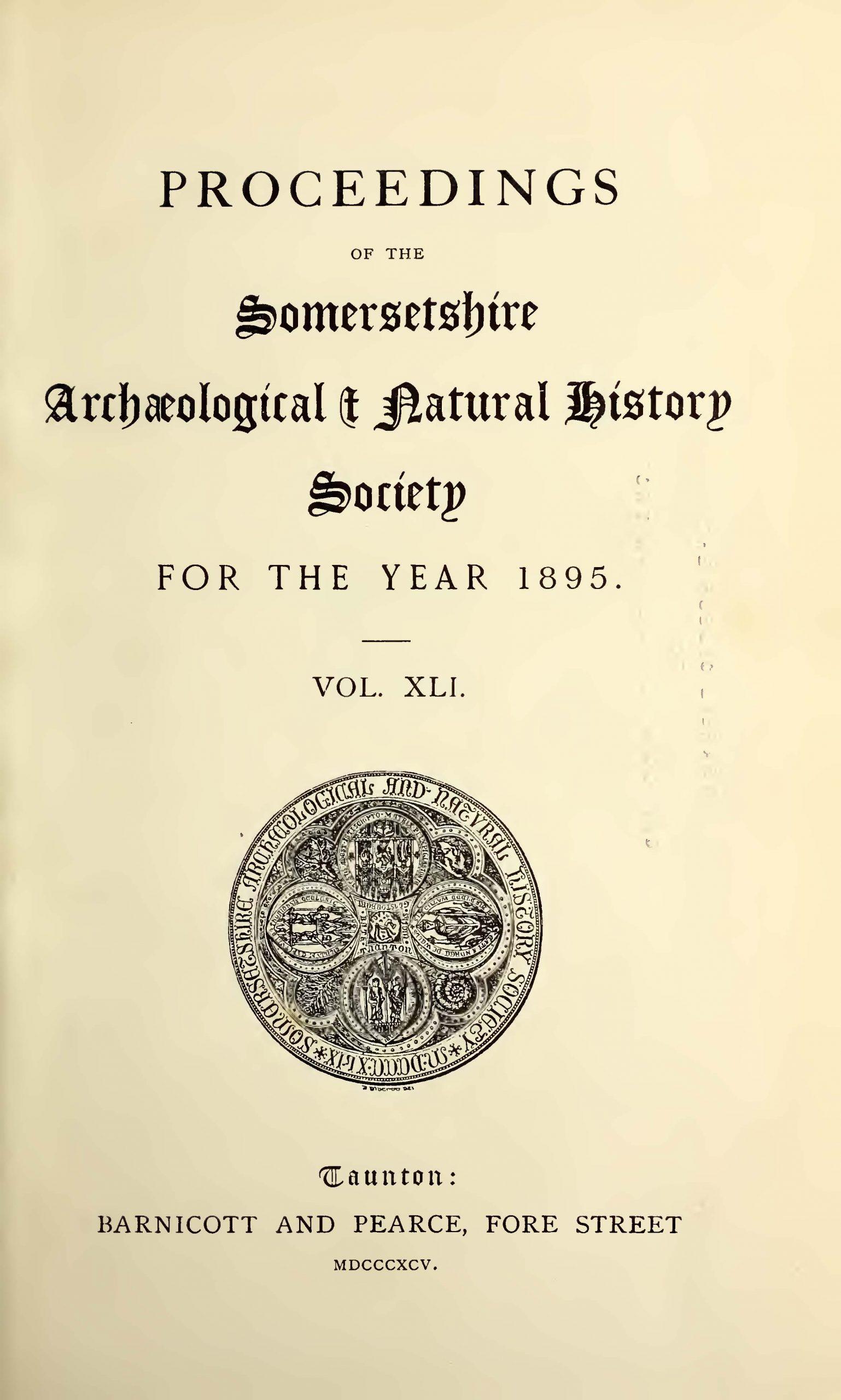 SANHS Proceedings Volume 41 Cover